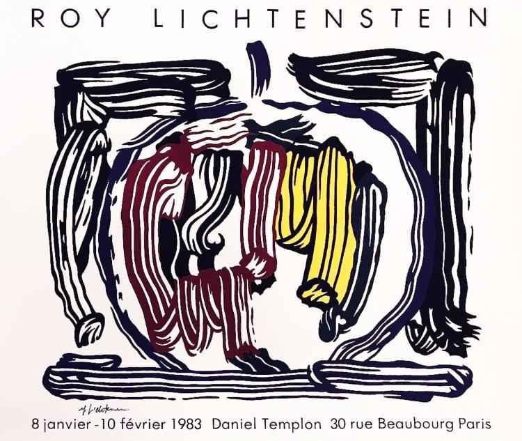 Brushstroke Still wit... by  Roy Lichtenstein - Masterpiece Online