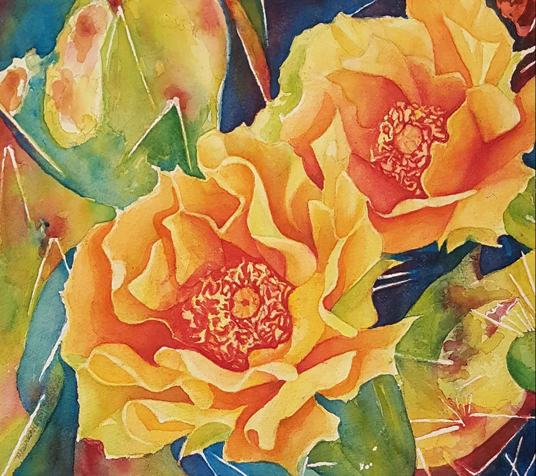 Fiesta De Las Flores by  Maureen Henson-Brunke - Masterpiece Online
