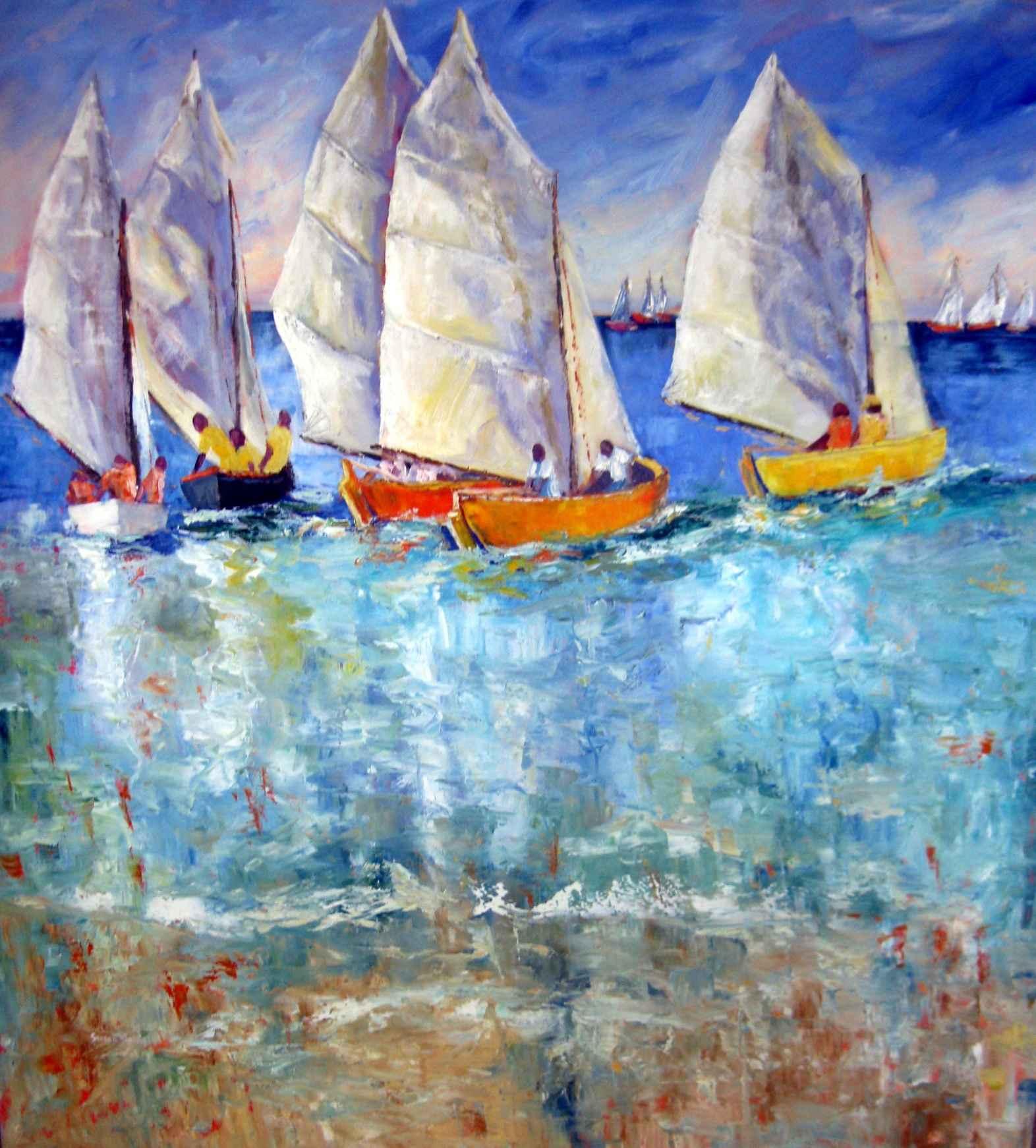 Work Boat Regatta 1 by Mrs. Susan Mains - Masterpiece Online