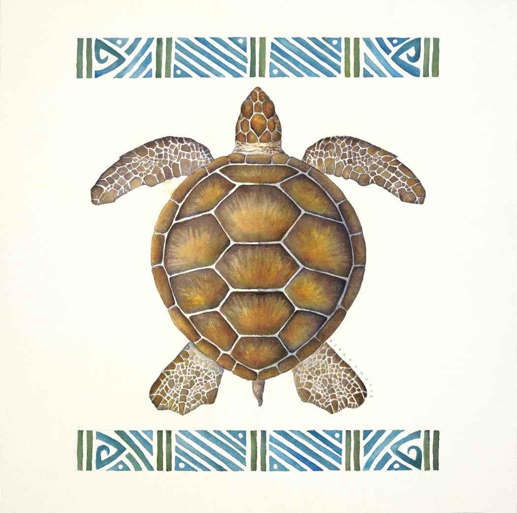 Honu Watercolor by  Kirsten Carlson - Masterpiece Online