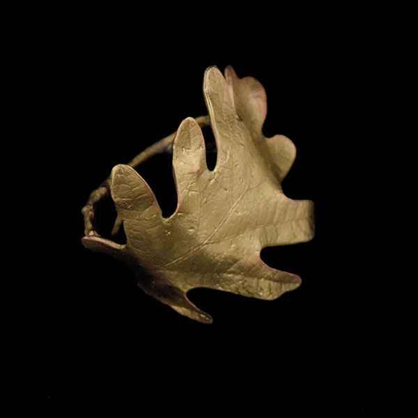 Oak Napkin Rings, Gold
