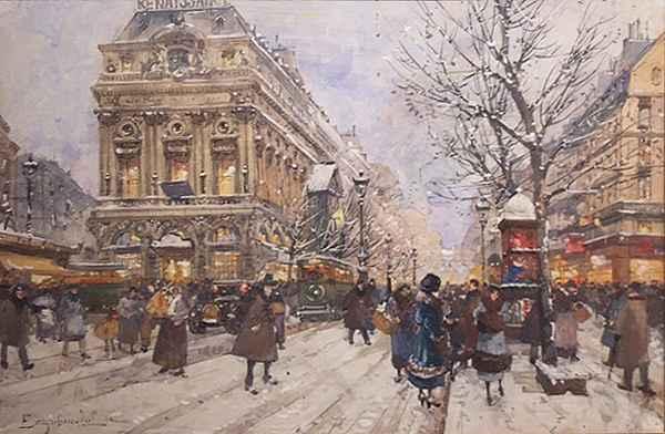 Paris, Winter by  E. Galien Laloue  - Masterpiece Online