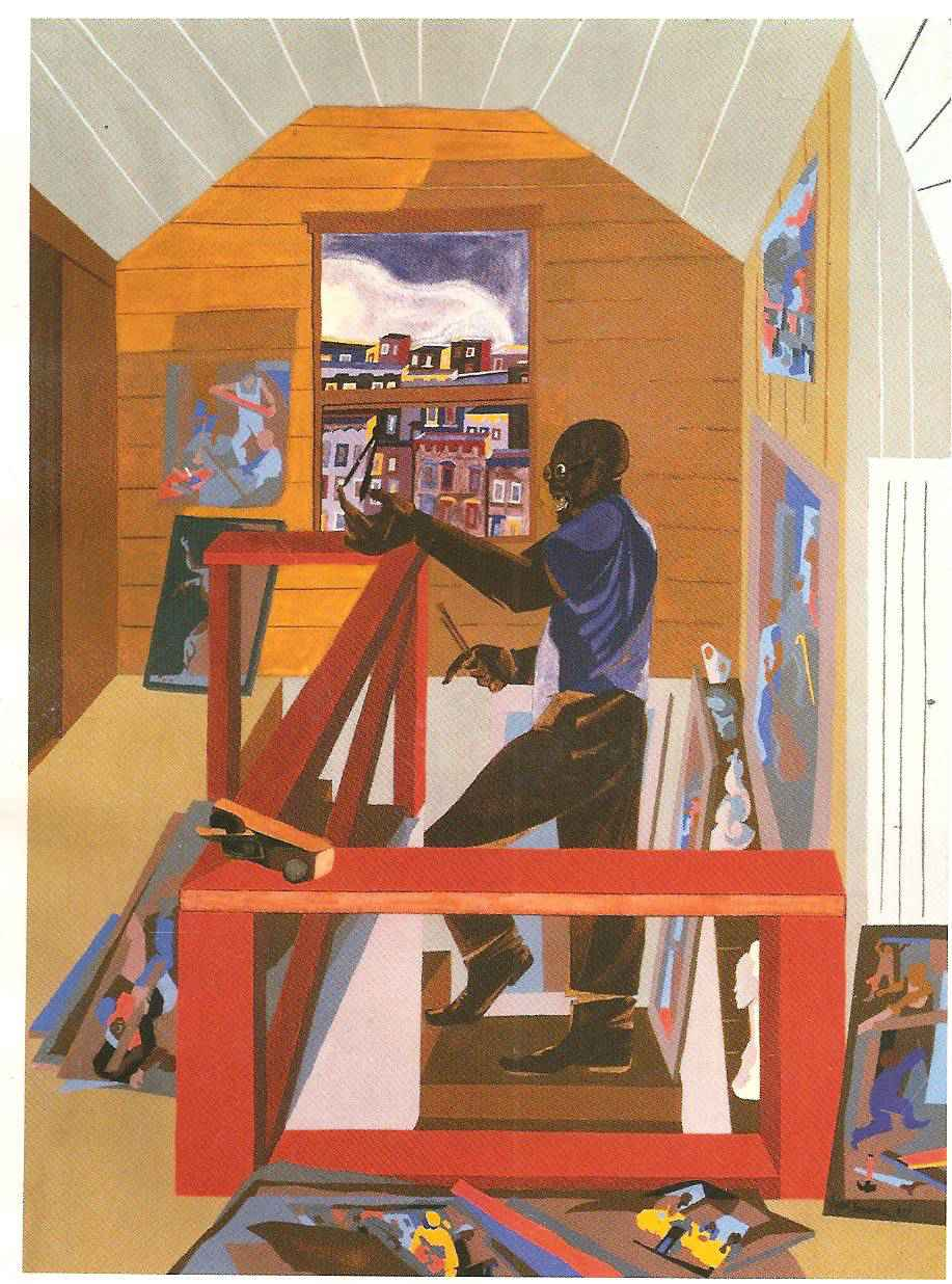 The Studio 1977 by  Jacob Lawrence - Masterpiece Online