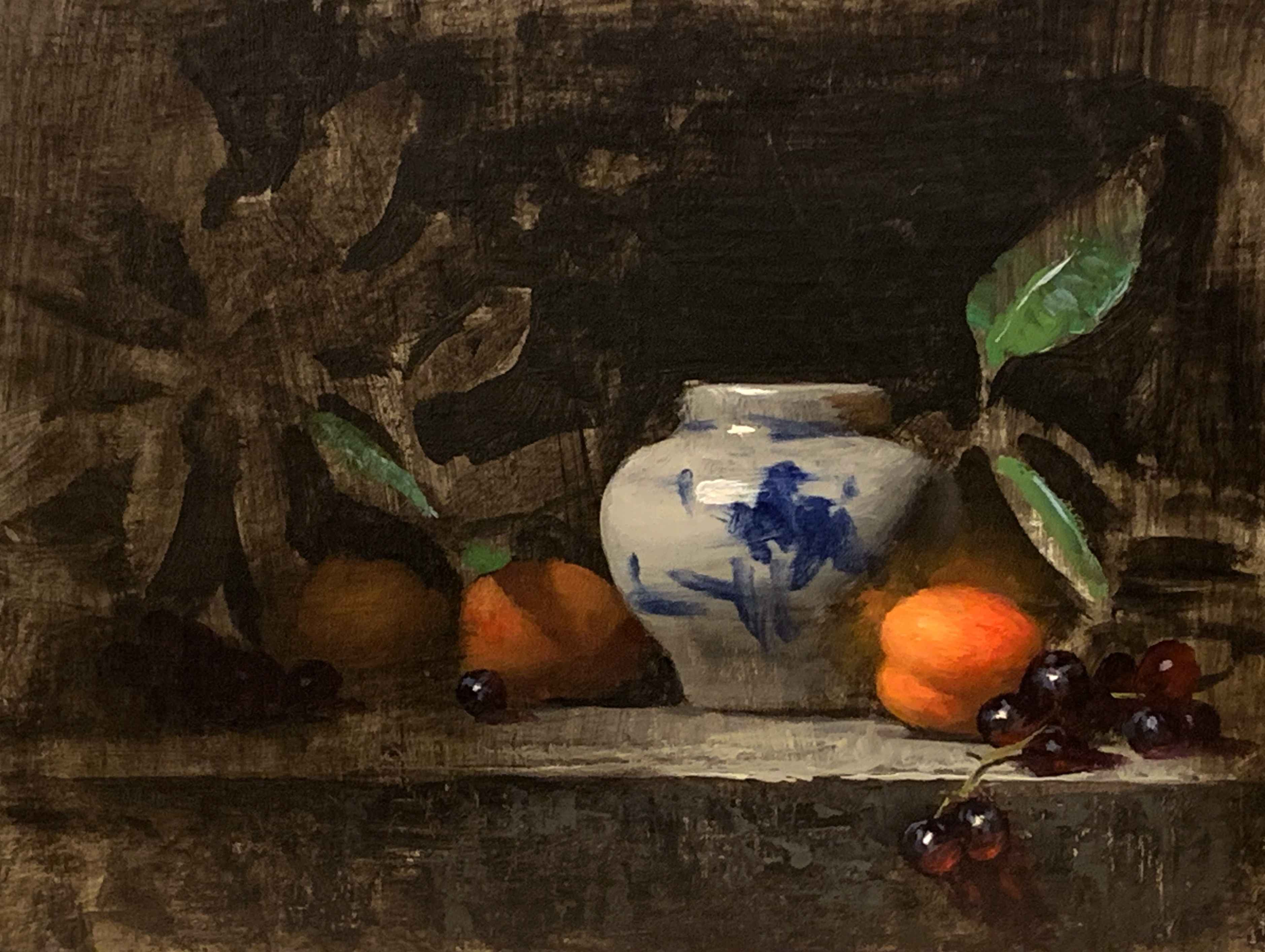 Apricots with Blue by  Jeff Legg - Masterpiece Online