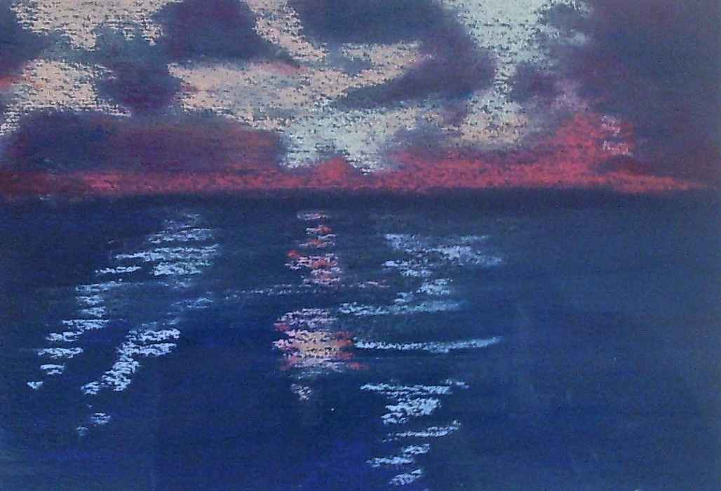Violet clouds reflect... by  Sidonie Caron - Masterpiece Online
