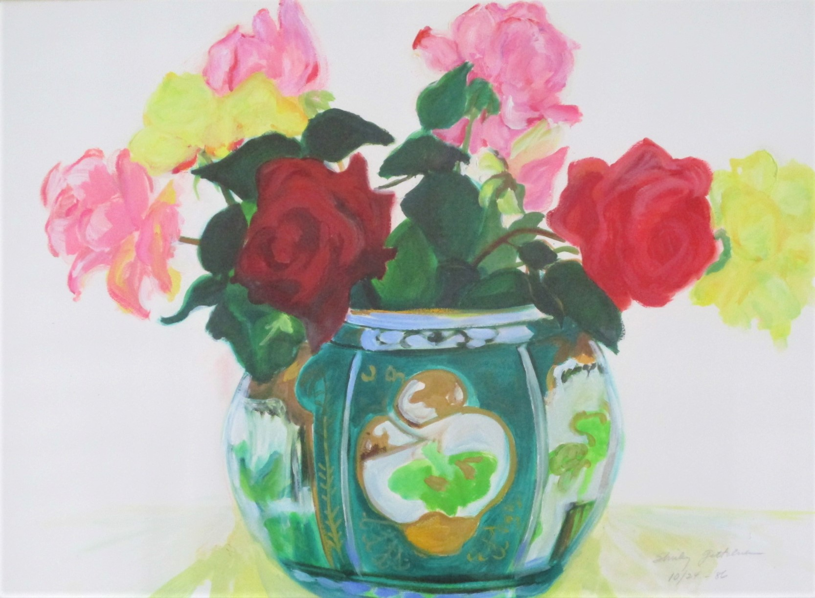 Title Unknown (roses ... by  Shirley Gittelsohn - Masterpiece Online