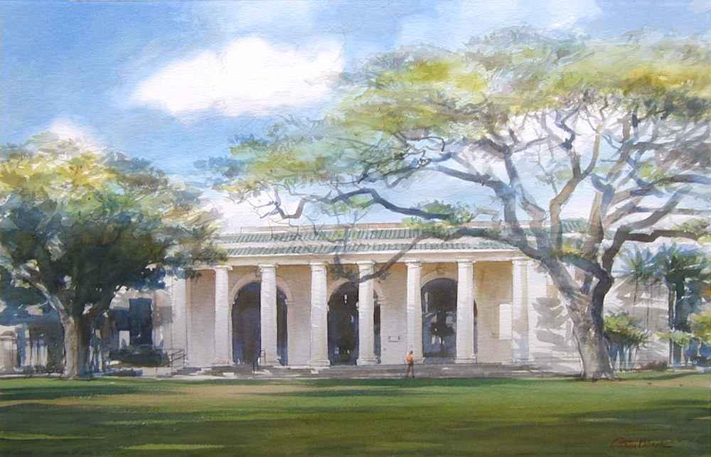 Honolulu Library by  Carter Black - Masterpiece Online