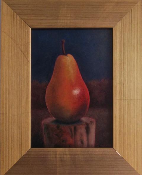 Pear on Fencepost