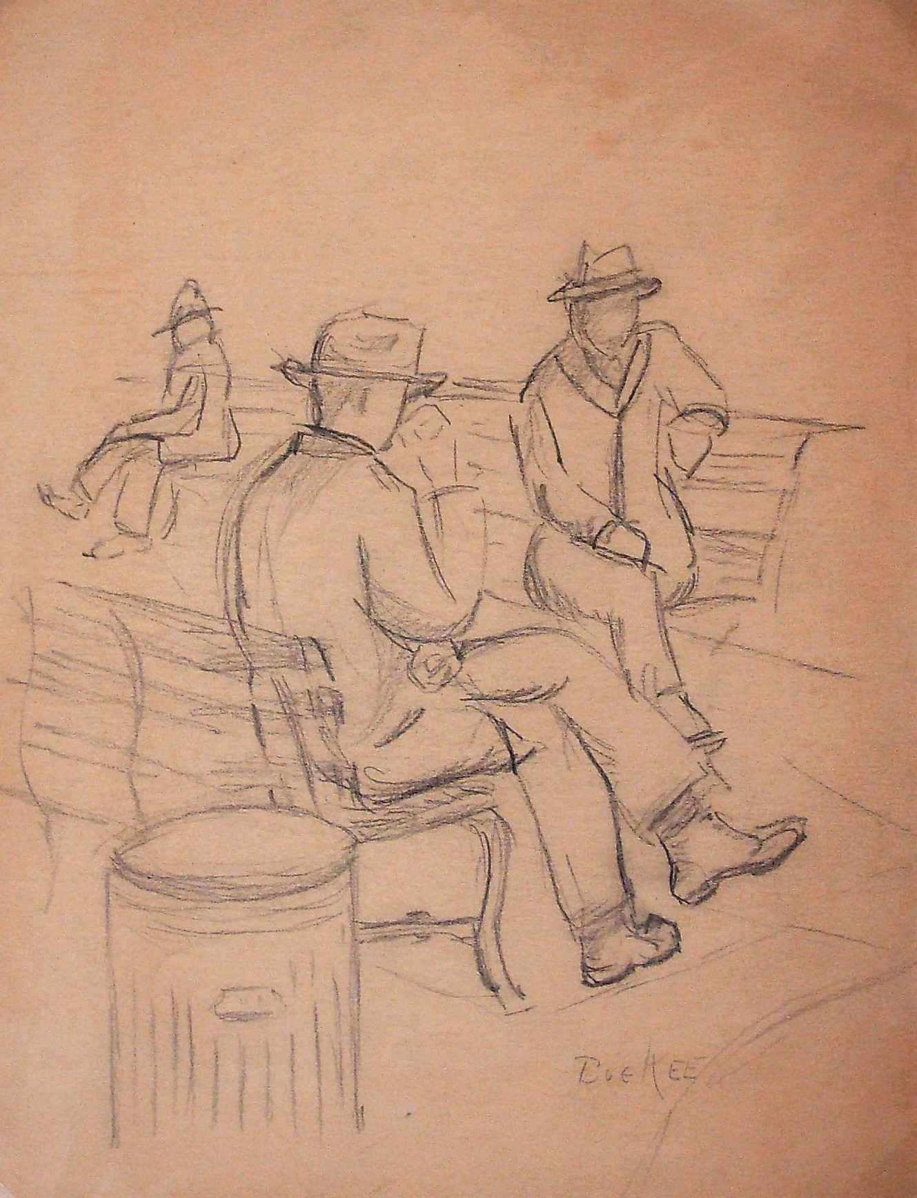 Unknown ( Park bench) by  Bue Kee - Masterpiece Online
