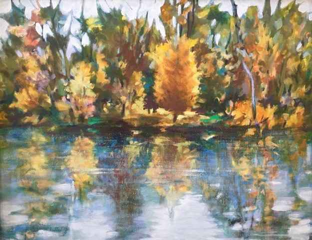 Untitled (Pond and Tr... by  Mary Theisen - Helm - Masterpiece Online