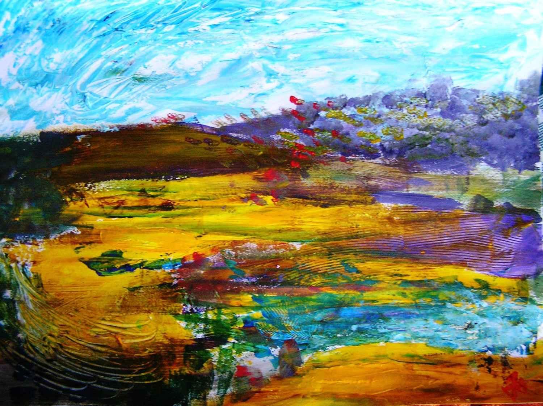 Automne bleu by Mme Ioana JITARU - Masterpiece Online