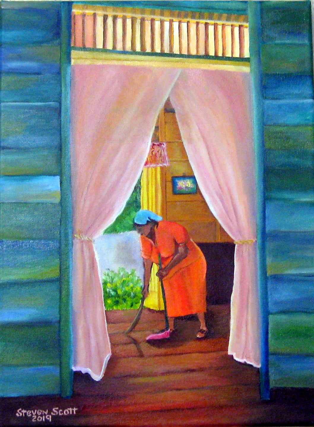 Cleaning House by  Steven Scott - Masterpiece Online