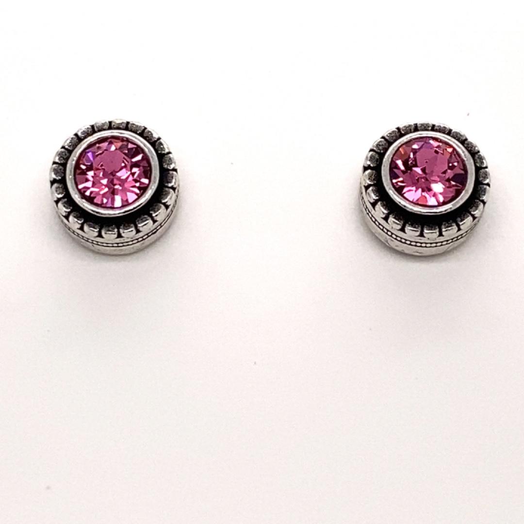 Indie Earrings in Silver, Rose