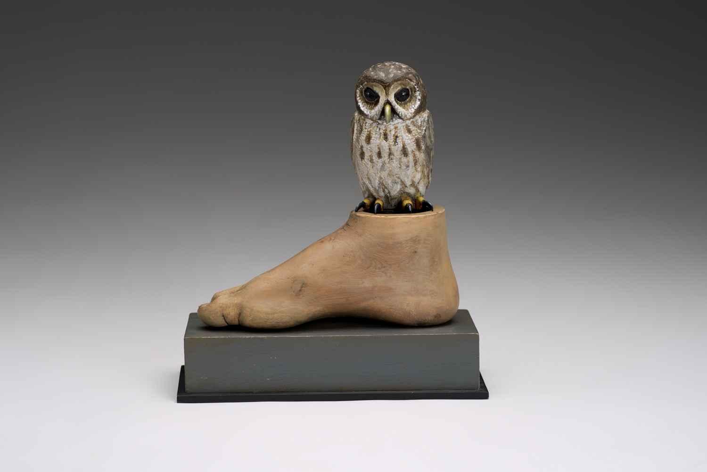Self Portrait with Owl  by  Hib Sabin