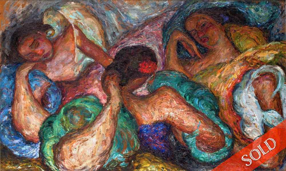 Three Filipino Ladies... by  Madge Tennent (1889-1972) - Masterpiece Online