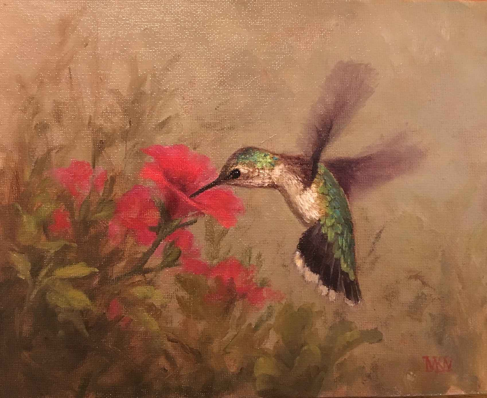Hummingbird in the Ga...