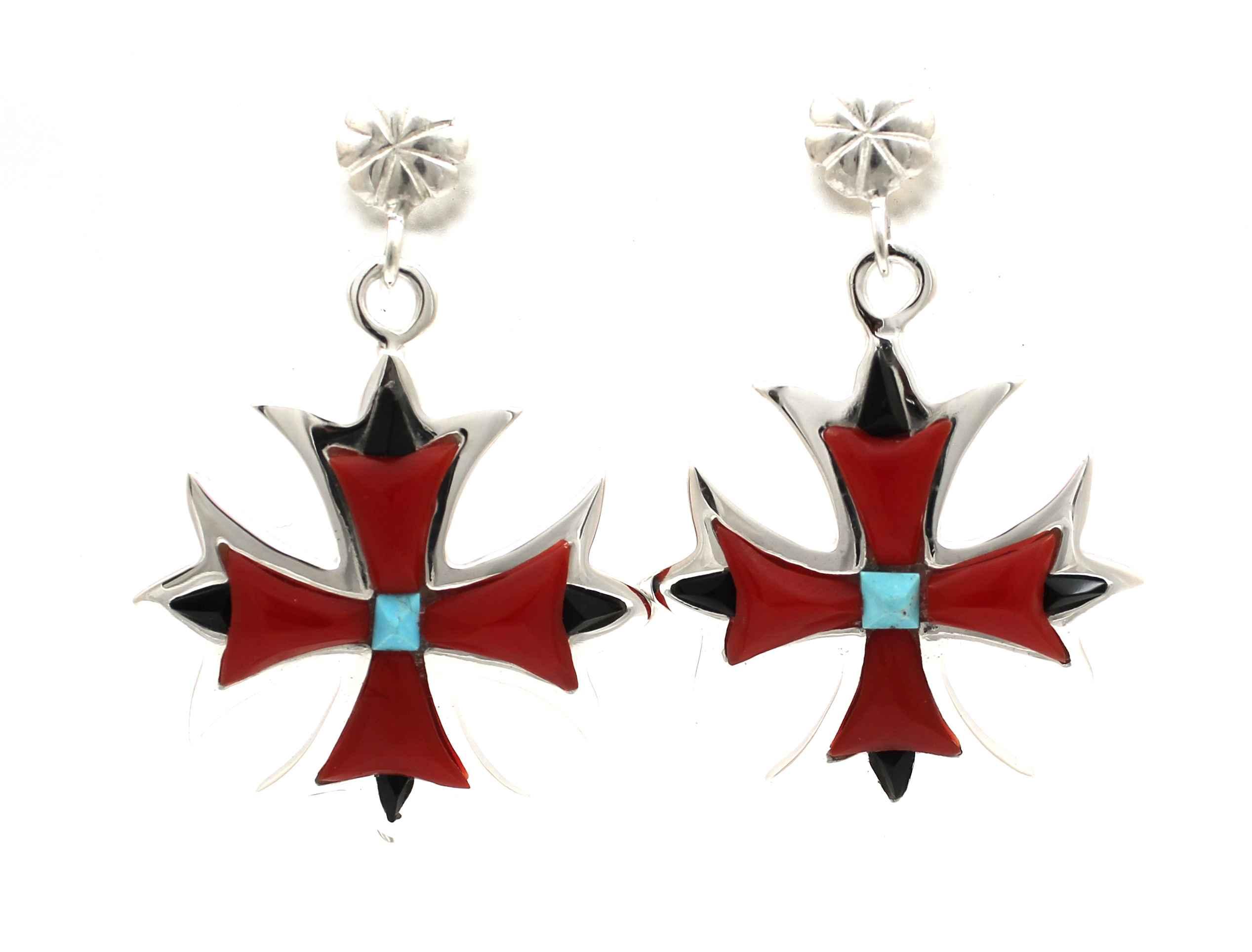 Maltese Cross Earrings by  Ben Nighthorse - Masterpiece Online