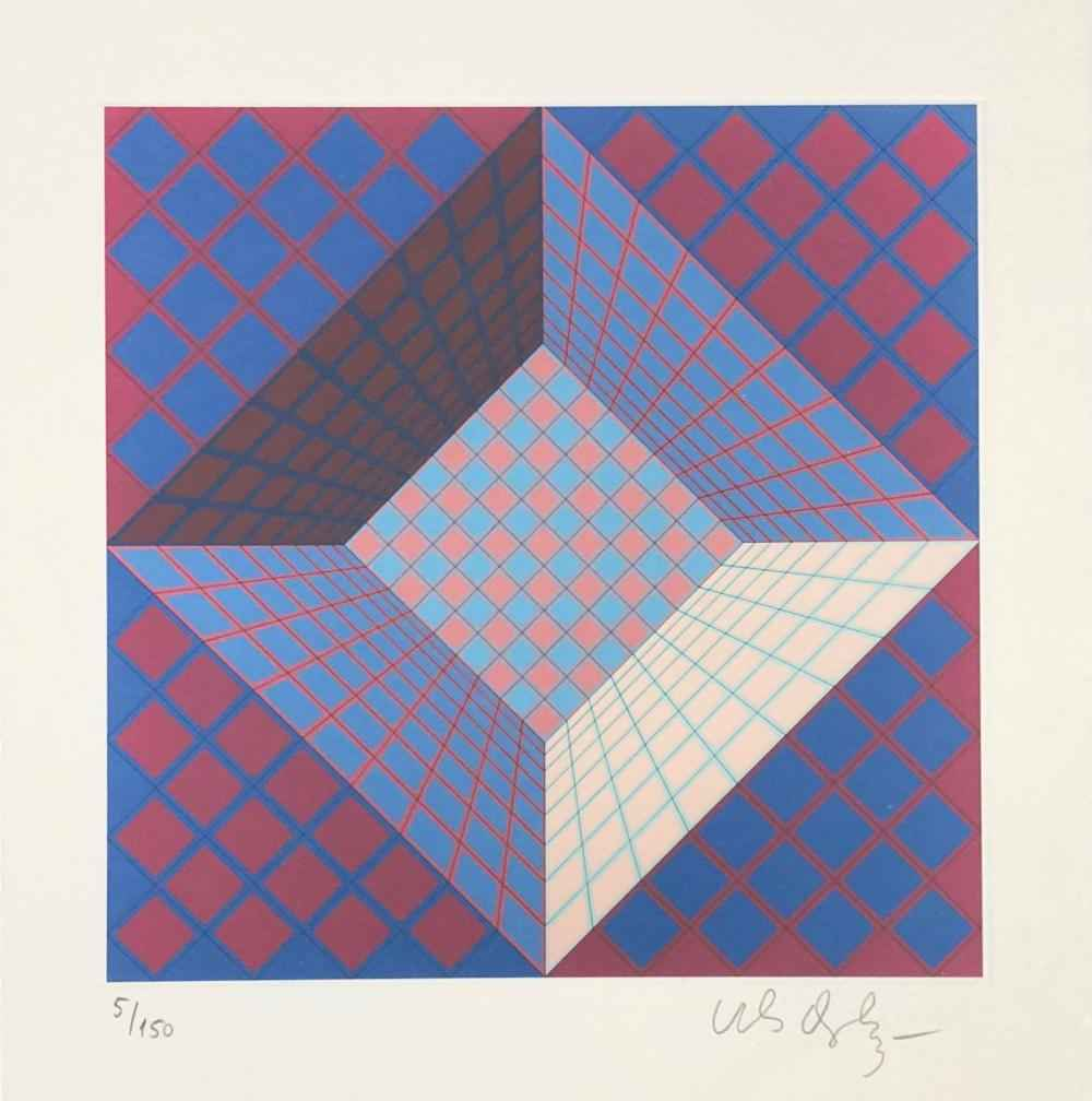 Pictor Geometric Di... by  Victor Vasarely - Masterpiece Online