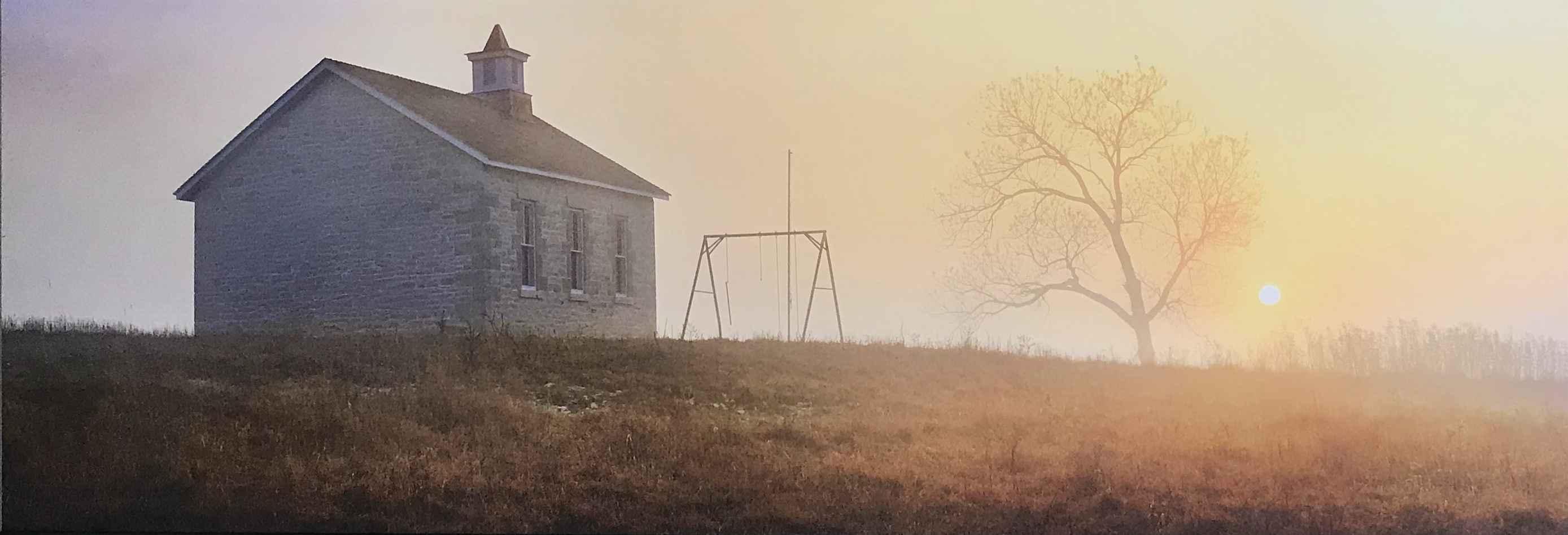 Schoolhouse Sunset by  George Jerkovich - Masterpiece Online