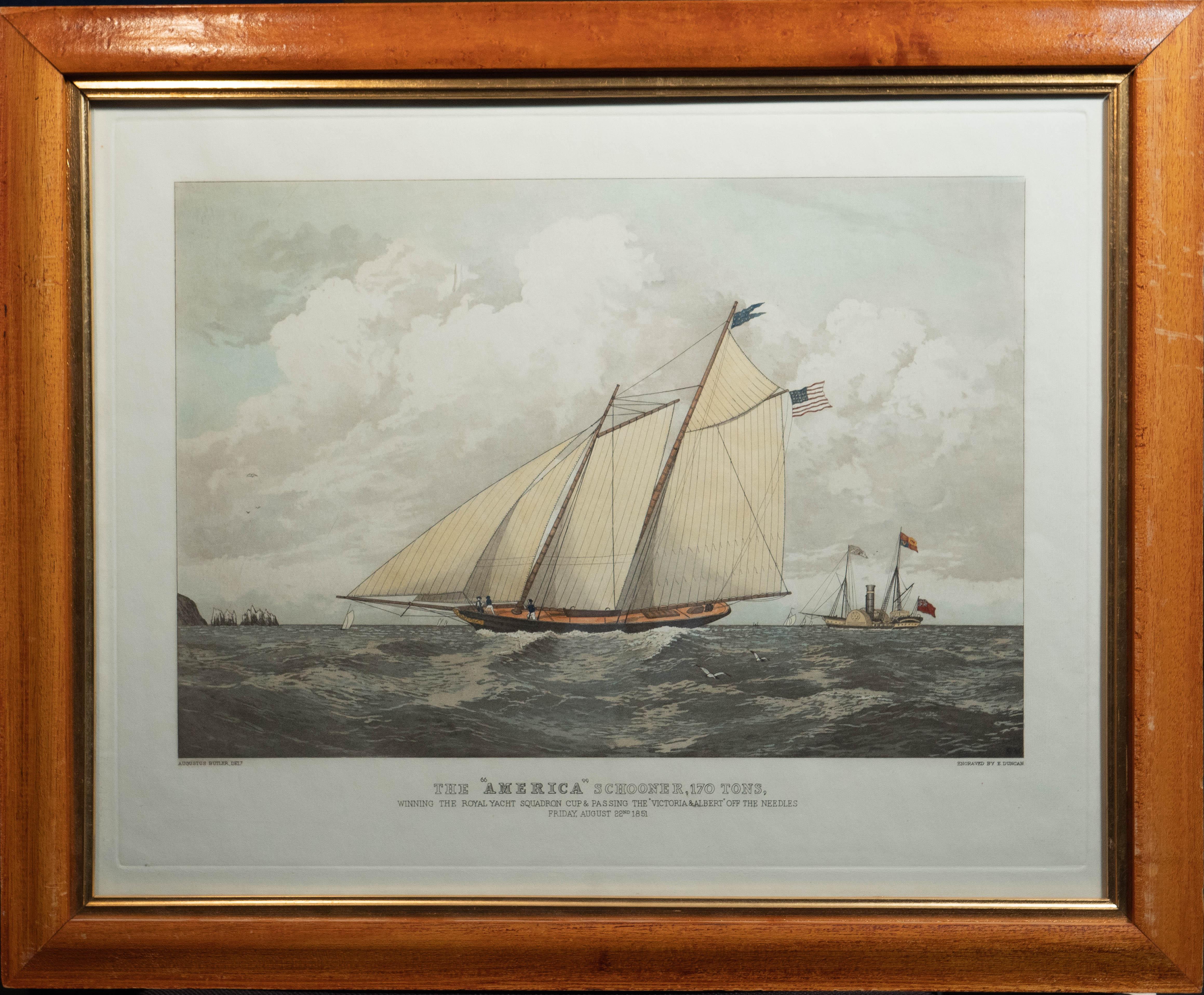 American Schooner 170... by  Augustus Butler-Delt - Masterpiece Online