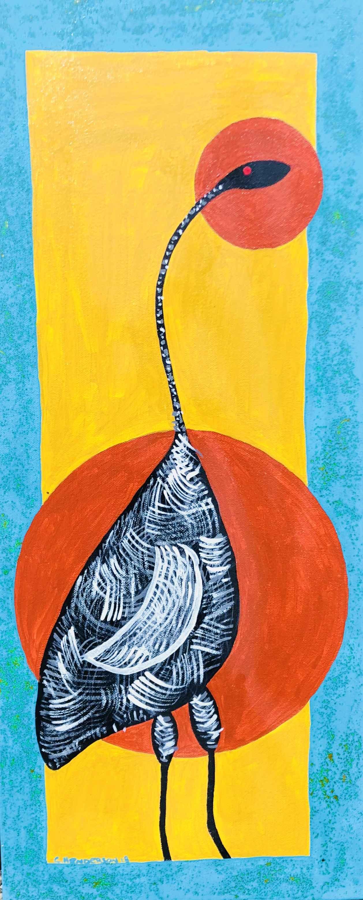 Brolga in Sunset by  Clive EHenderson - Masterpiece Online