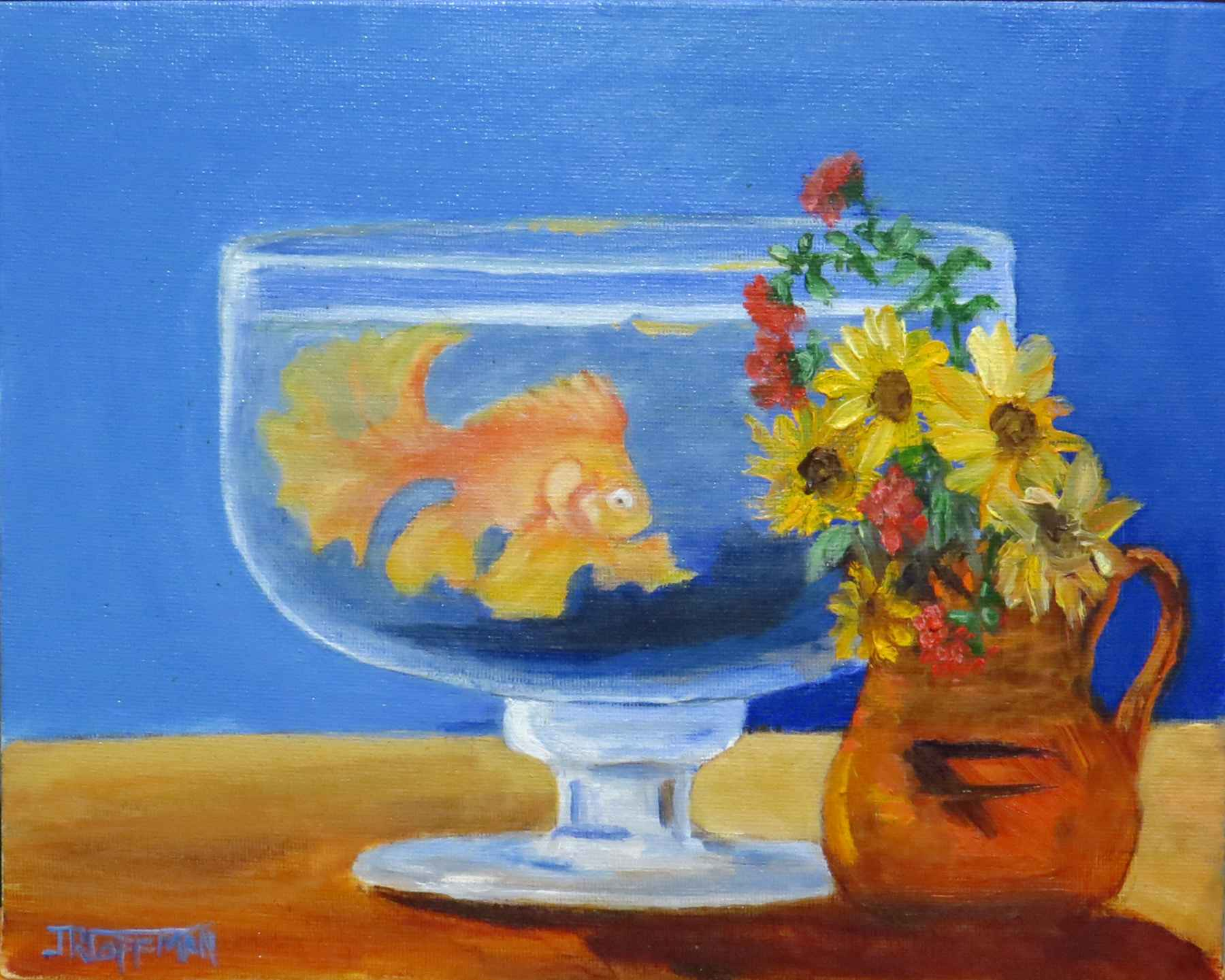 Flowers and a Fish by  Jim Coffman - Masterpiece Online