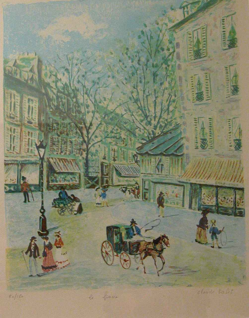 Le Fiacre by  Claude Tabet - Masterpiece Online