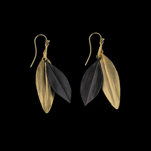 Cordyline Double Leaf Wire Earrings