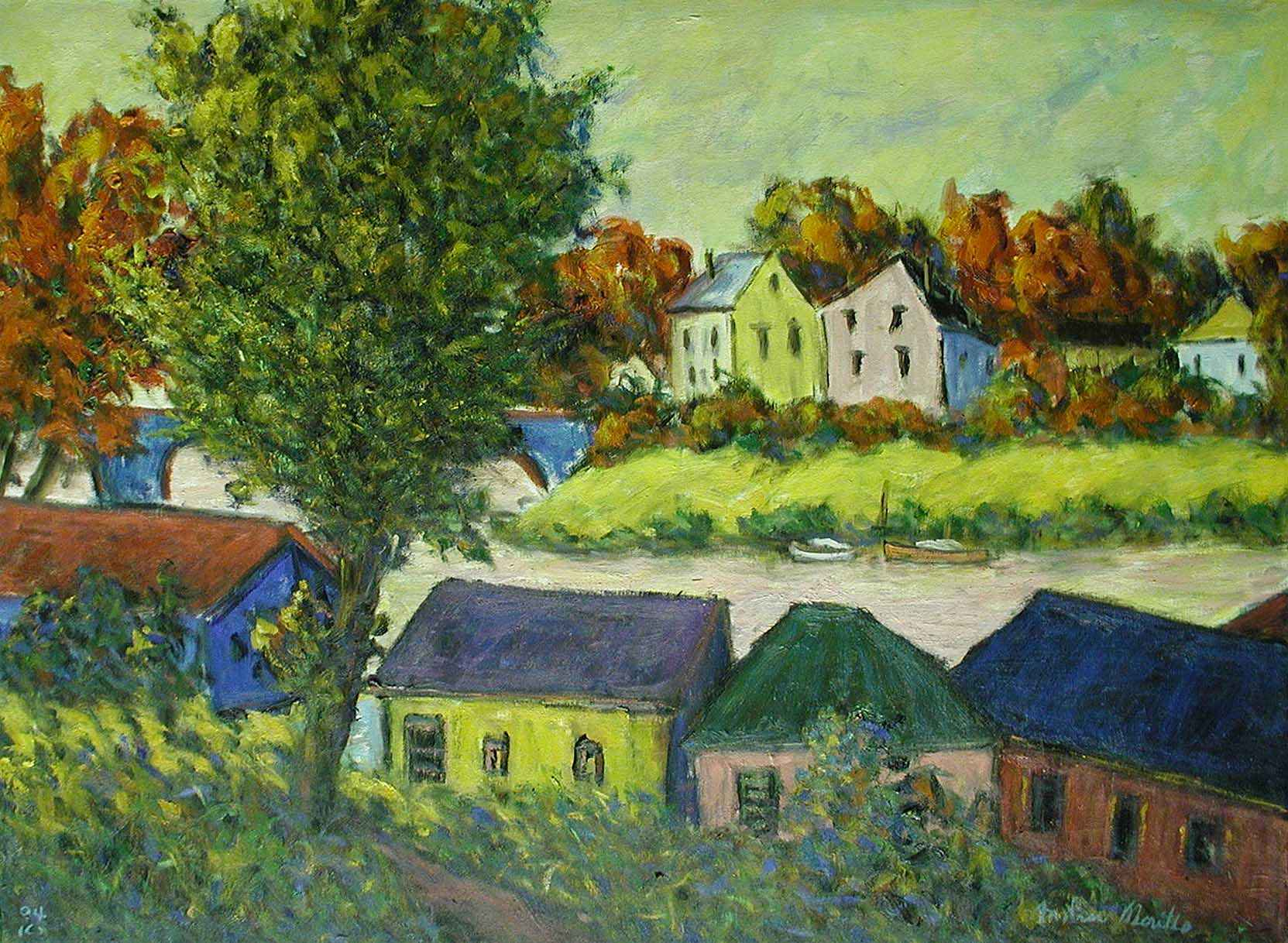Path by the River Bank by  Andres  Morillo - Masterpiece Online