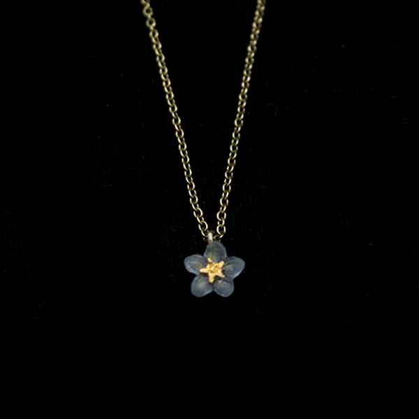 Forget Me Not Single Flower Pendant 16