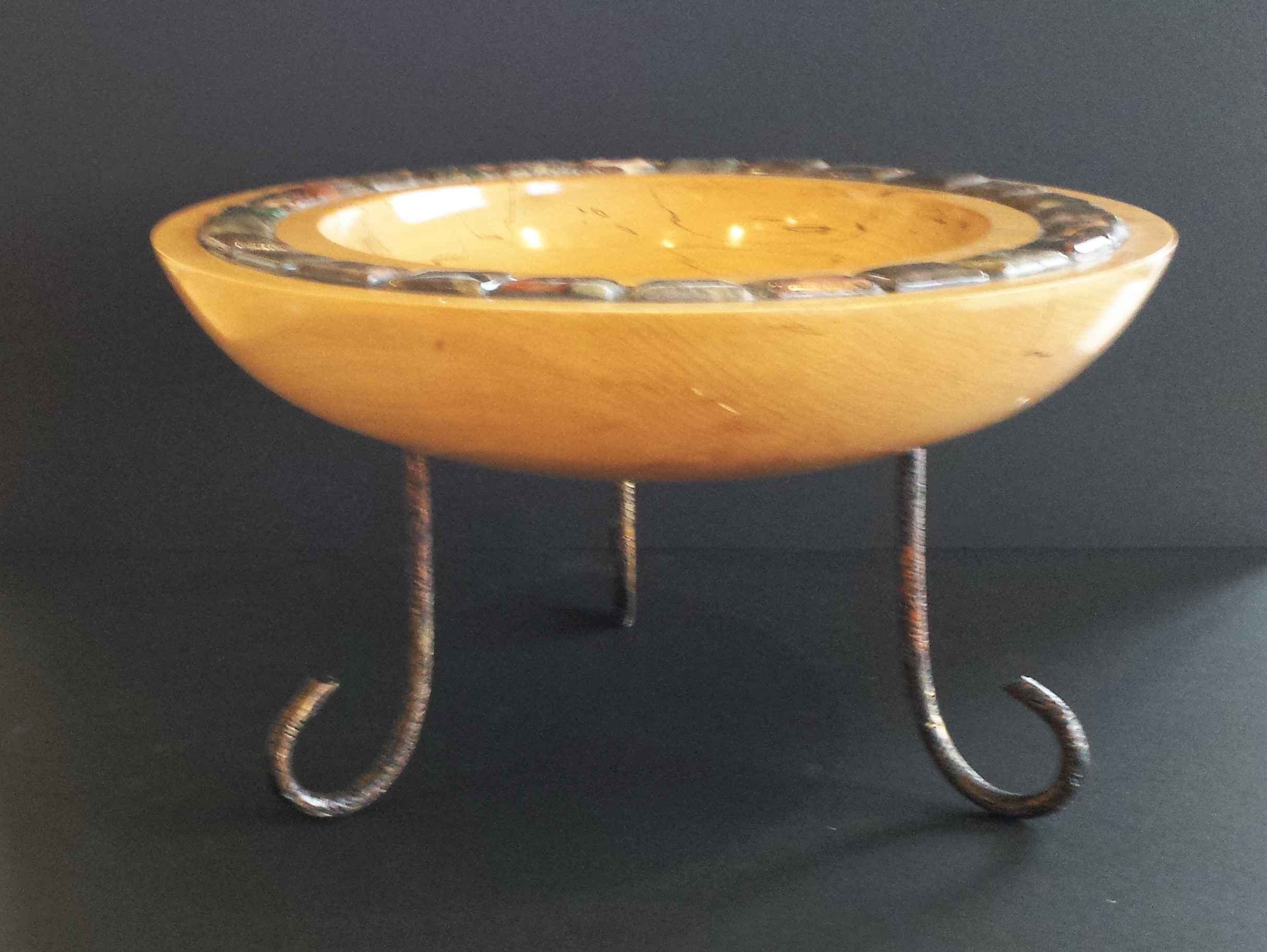 Maple Bowl with Jaspe... by  Ronald Zdroik - Masterpiece Online
