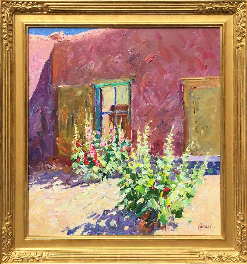 Kit Carson Hollyhocks by Mr. Walt Gonske - Masterpiece Online