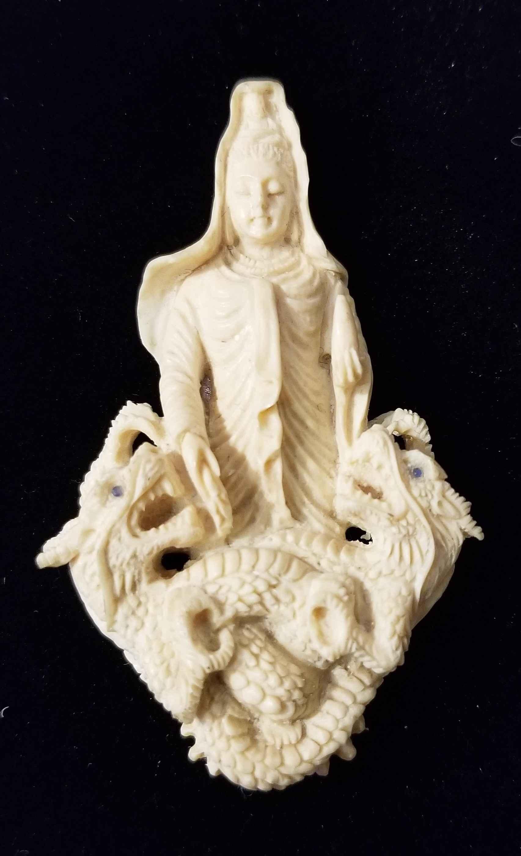 Kuan Yin on Dragon by  Susan Tereba - Masterpiece Online