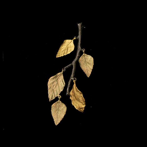 Autumn Birch Leaf Brooch