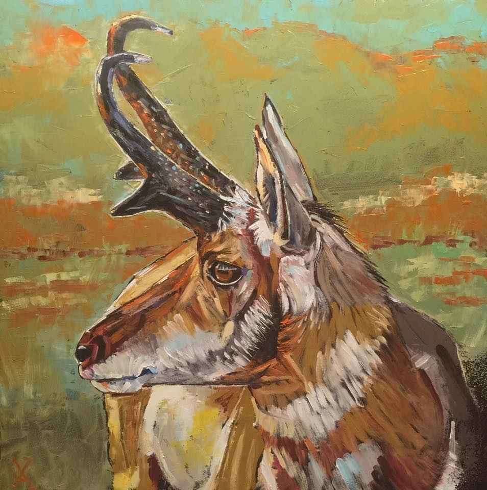Sunrise Pronghorn by  David Volsic - Masterpiece Online