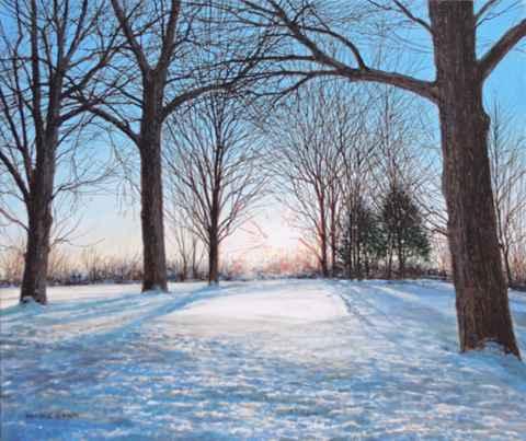 Old Oak Trees - Janua... by  Michael Wheeler - Masterpiece Online