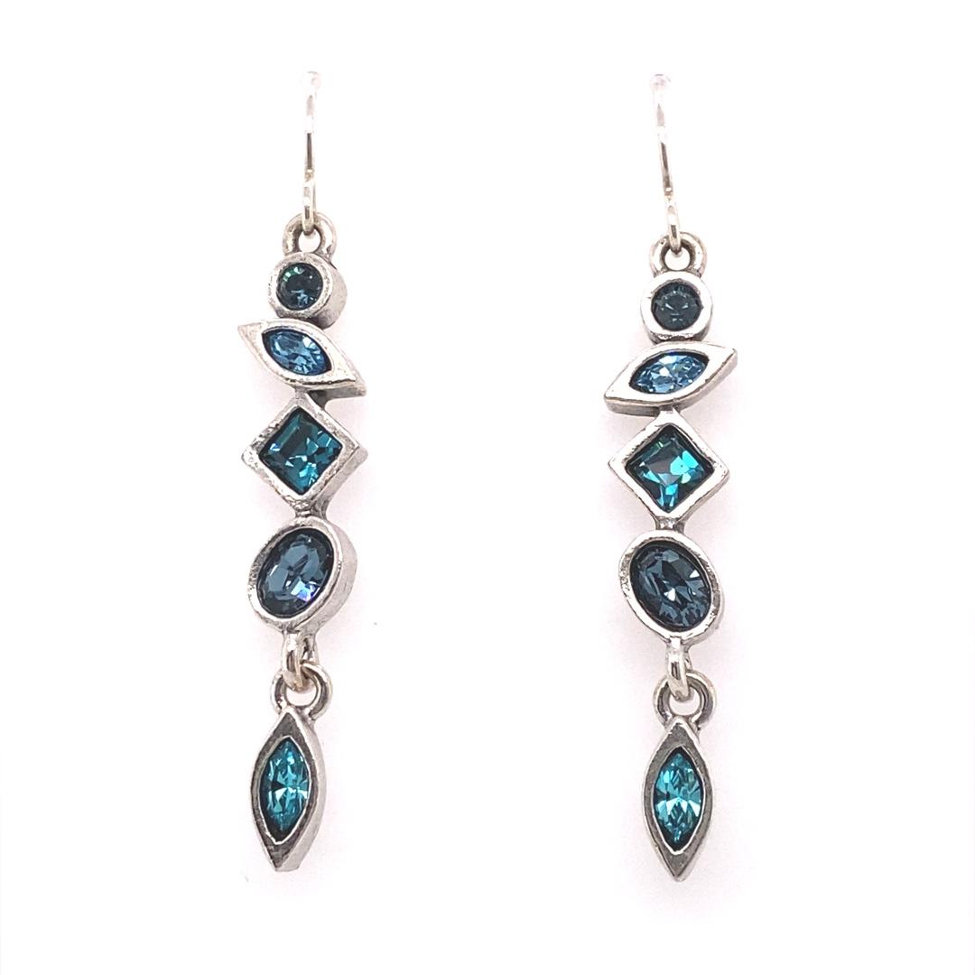 Revelation Earrings in Silver, Bermuda