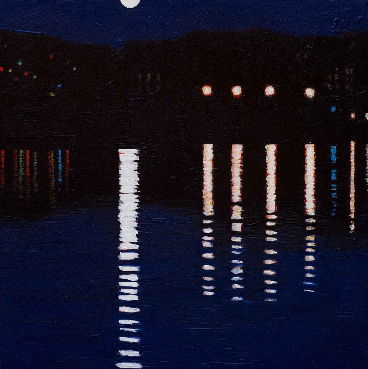 Moon on the Harbour  by  Susan Oomen