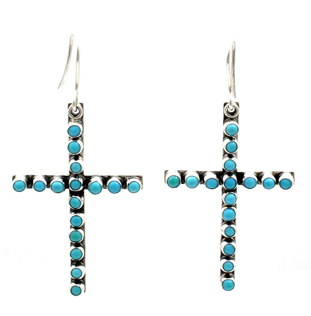 Turquoise Cross Dangl... by  Don Lucas - Masterpiece Online