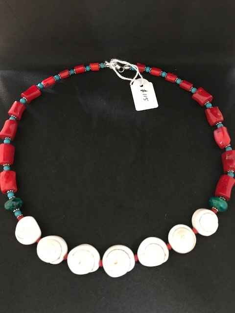 Turquoise Coral Shell... by Mrs Larissa Hale - Masterpiece Online