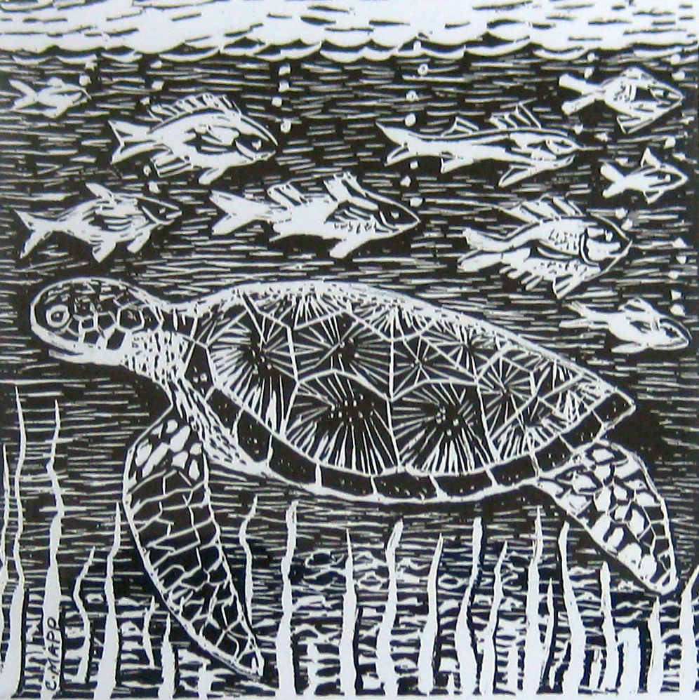 Turtle and Fish1 by Mr. Clairmonte Mapp - Masterpiece Online