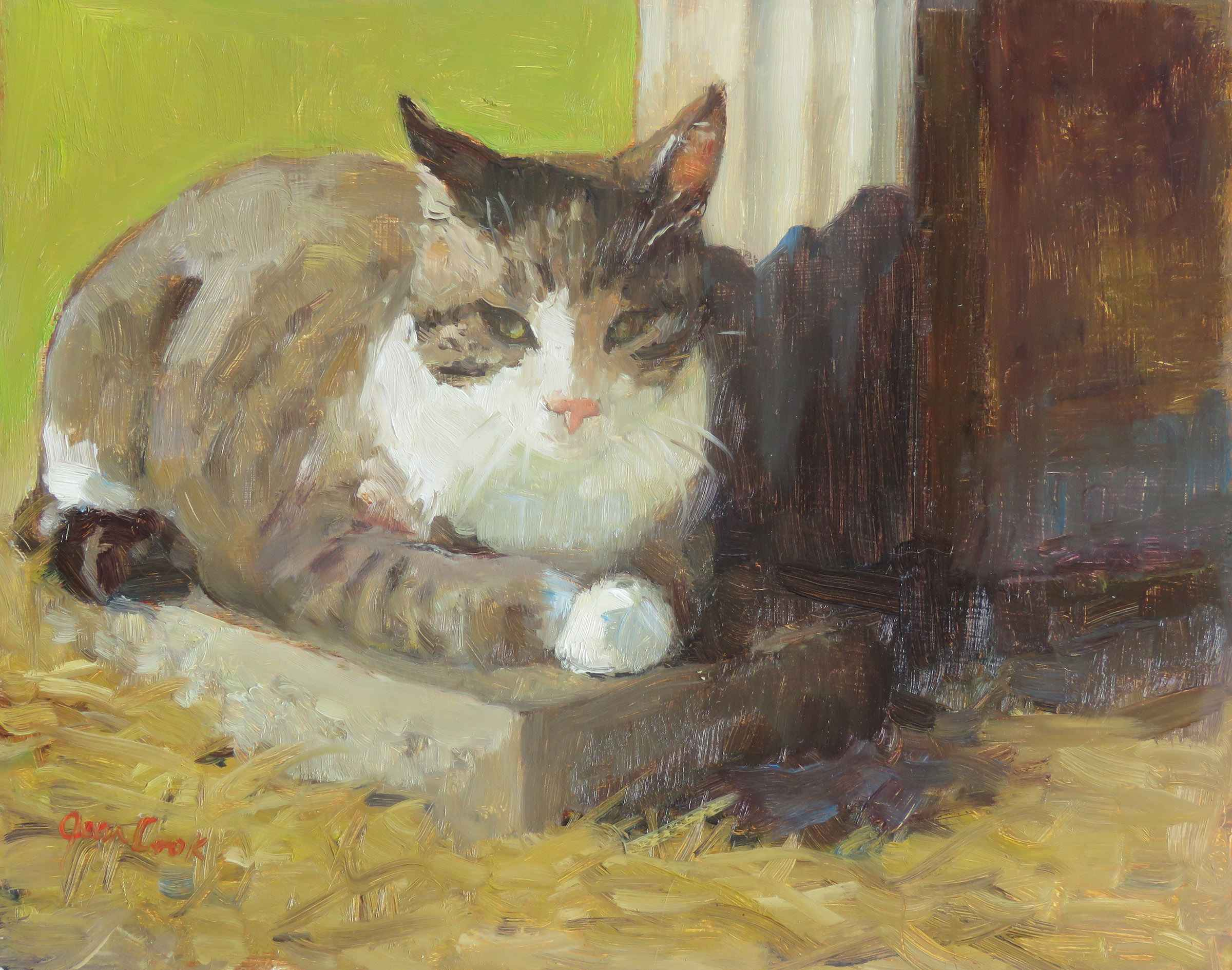 Barn Cat by  Jean Cook - Masterpiece Online