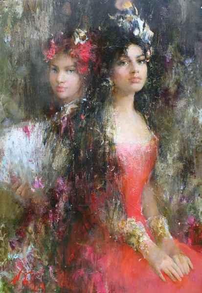 Spanish Woman by  Nikolai  Blokhin  - Masterpiece Online
