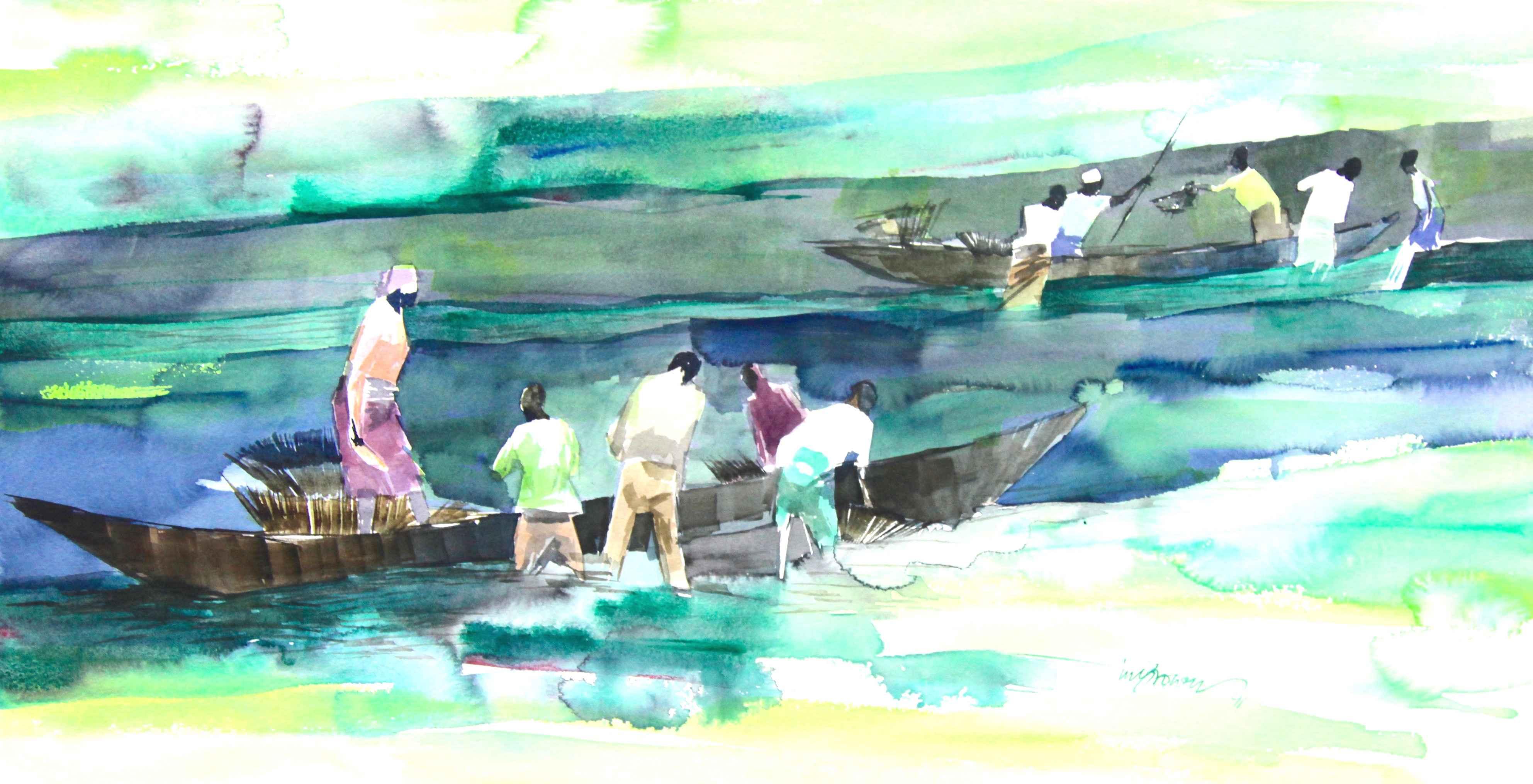 Green seas by Mr Ini Brown - Masterpiece Online