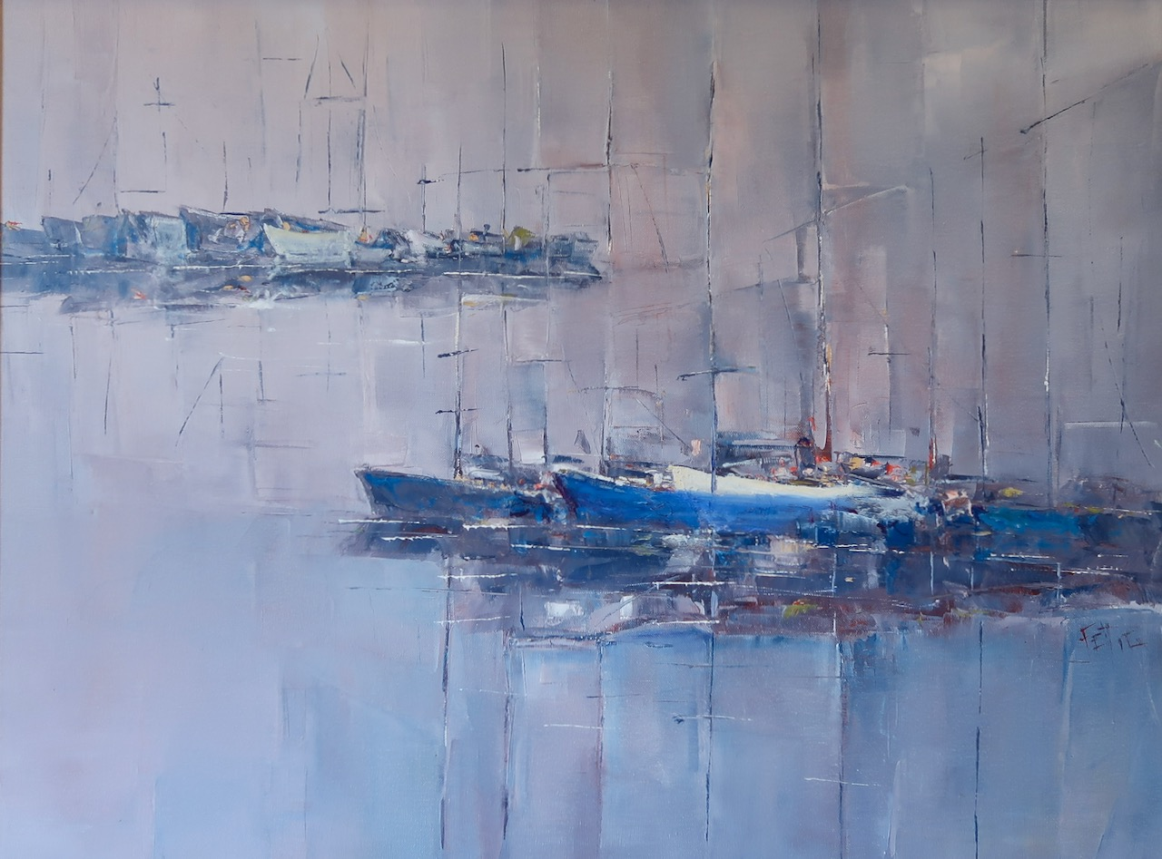Harbor Blues by Ms. Beverly Fettig - Masterpiece Online