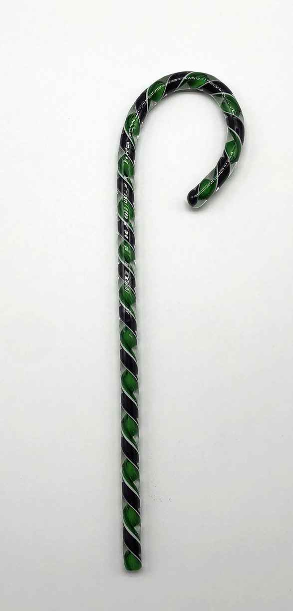Blown Glass Candy Canes - Purple/Green