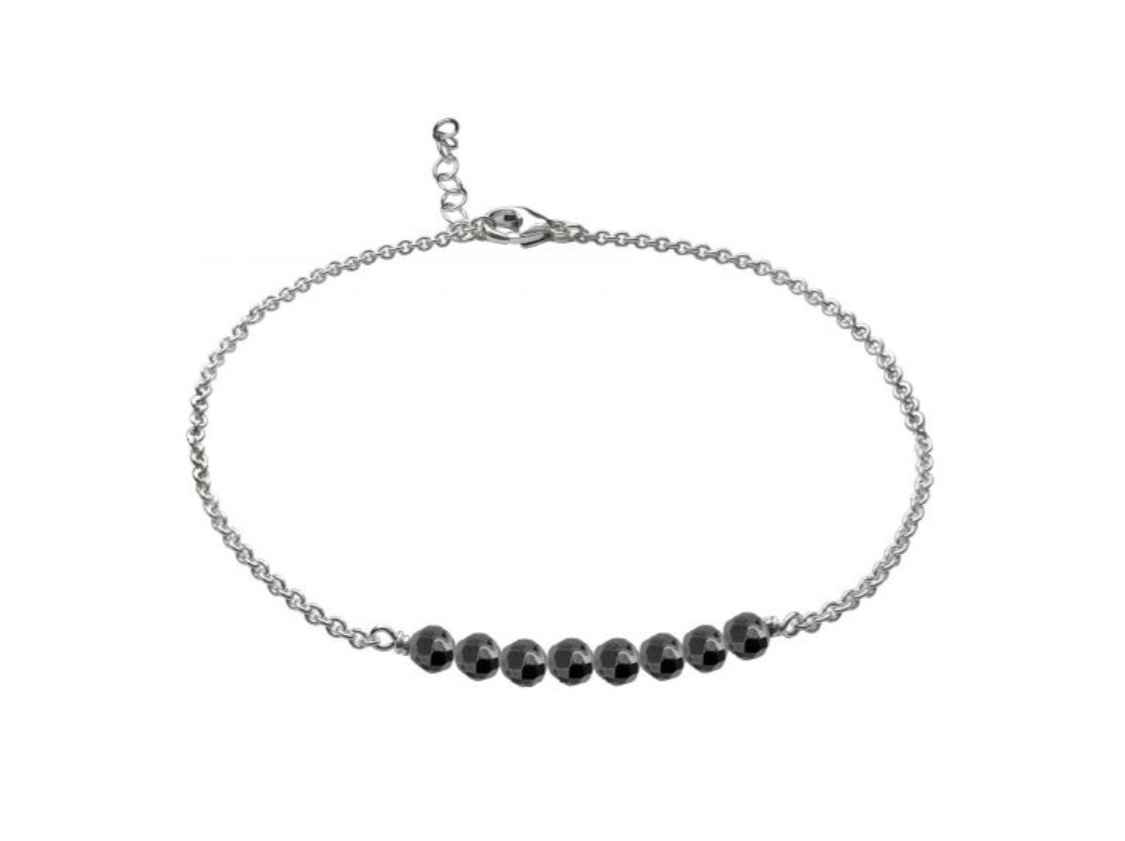 Gypsy Anklet Sterling Silver Hematite