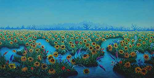 Sunflowers by  Roosevelt SANON - Masterpiece Online