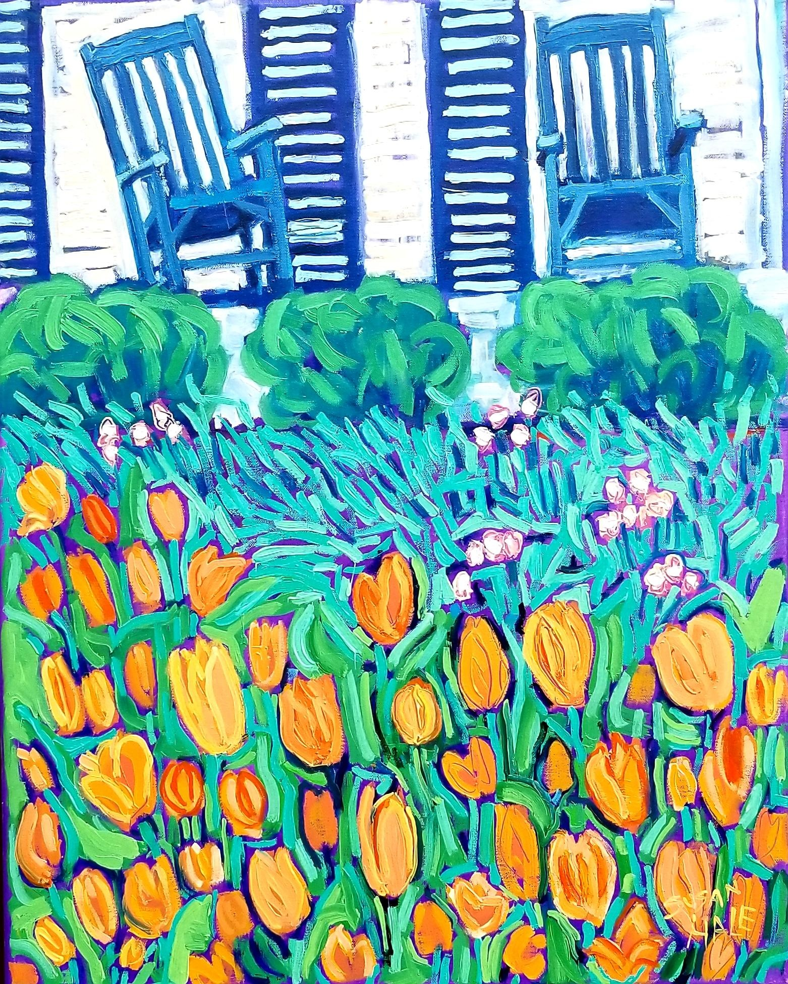 Front Porch Tulips