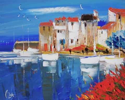 In Port by  Louis  Magre - Masterpiece Online